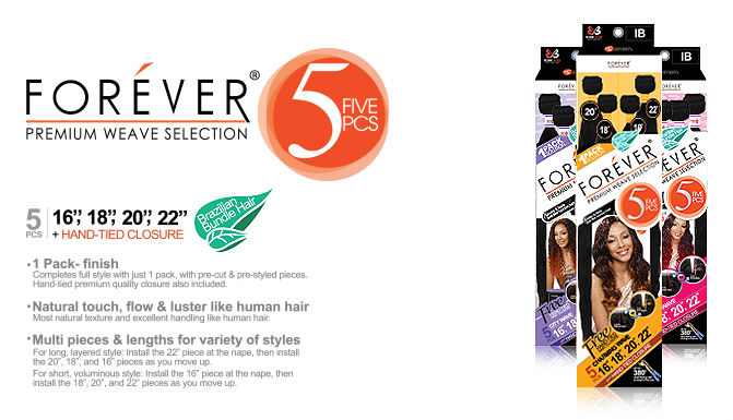 Bobbi Boss Forever Premium Weave TROPICAL WAVE 13 Pcs
